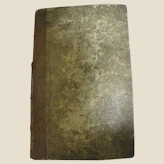 1812 German - American Evangelical Lutheran Magazine Leather Bound Rare Superb Condition For Its Age