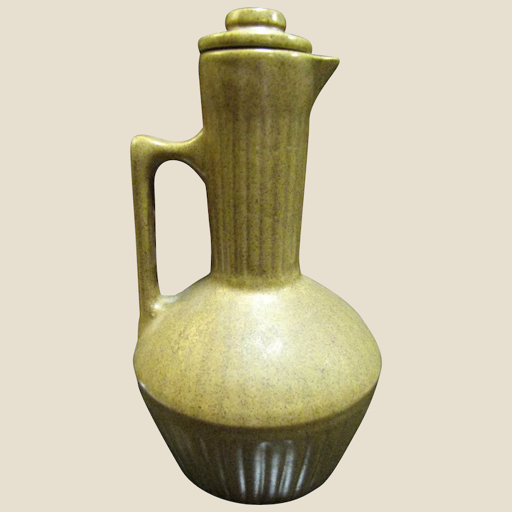 Antique Stoneware Syrup Pitcher