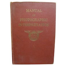 Manual of Photographic Interpretation by American Society of Photogrammetry 1960 1st Edition