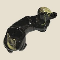 Sectional Dachshund Desk Tidy, Japan Redware, CUTE!