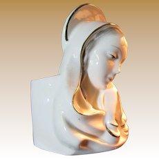 Beautiful Madonna Vase or Planter, Lovely Expressive Portrait!