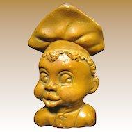 Vintage African American Boy Cook Chalkware Spoon Holder