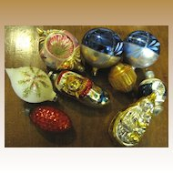Mixed Ornament Group, Indents, Figurals, Glitter Frosted