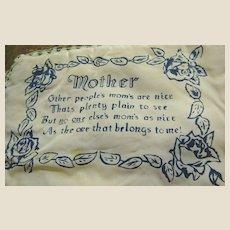 WW2 Army Nostalgic Hankie Case, Poem to Mother!