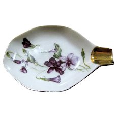 Lefton Hand Painted Ashtray, Violets!