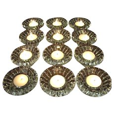 12 Firna Elegant Crystal Candle Holders, for Multi Size Candles