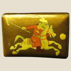 Mongolian Polo Player Match Box Holder, Fun!