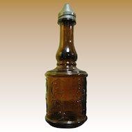 Vintage Restaurant Amber Vinegar Bottle Shaker
