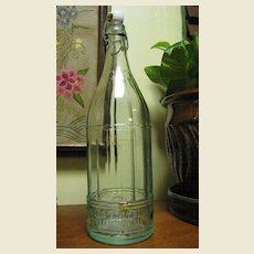 Antique Soda Bottle with Vertical Ribbing, Made by Rumford, ME Circa 1900