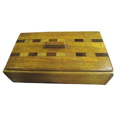 Beautiful Art Deco Large Marquetry Box