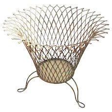 Elegant Wire Planter with Footed Base