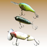 Selection of 3 Fishing Lures from the Estate of a Local WWII Vet.