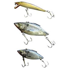 Selection of 3 Fishing Lure from the Estate of a Local WWII Vet.