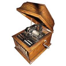 Antique Amberola 30 Edison Cylinder Phonograph, Oak, Circa 1915 - Works! ,