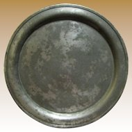 "Circa 1800's Pewter Platter 12 3/4"", Touch Mark of Minuteman‏"