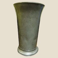 "1700's English Beaker for Tavern Ale or Beer, 6 3/4"" Tall, 24 Fluid Ounces"