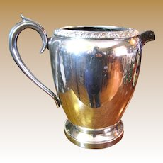 Lovely Silver Plated Embossed Water Pitcher by Wm Rogers & Sons