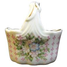 Pretty Lefton China Miniature Decorative Basket # 03168