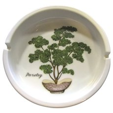 Nice Vintage Catch All or Ashtray, Parsley Design!