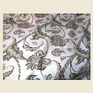 5 Yds + Bold Paisley 4 Color Printed Schumacher Linen