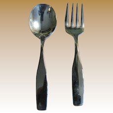 Sweet Silver-plated Child's Fork & Spoon by Leonard