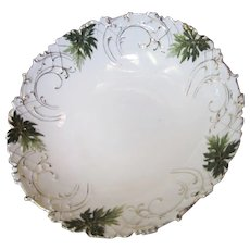 "Ornate Victorian Hand Painted & Gilt Porcelain 9"" Bowl"