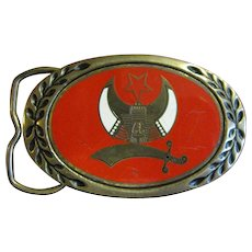 Shriner Solid Brass Belt Buckle by Heritage Buckles, 1981