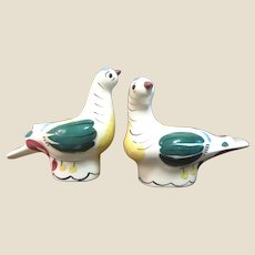 Large Pair of Cleminson Pottery Bird Shakers, Fun!