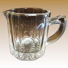 1920's, Indiana Glass Co. Crystal 5 oz Restaurant Ware Creamer