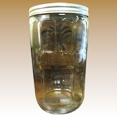 1930/40's Hoosier Glass Canister Jar with Aluminum Lid