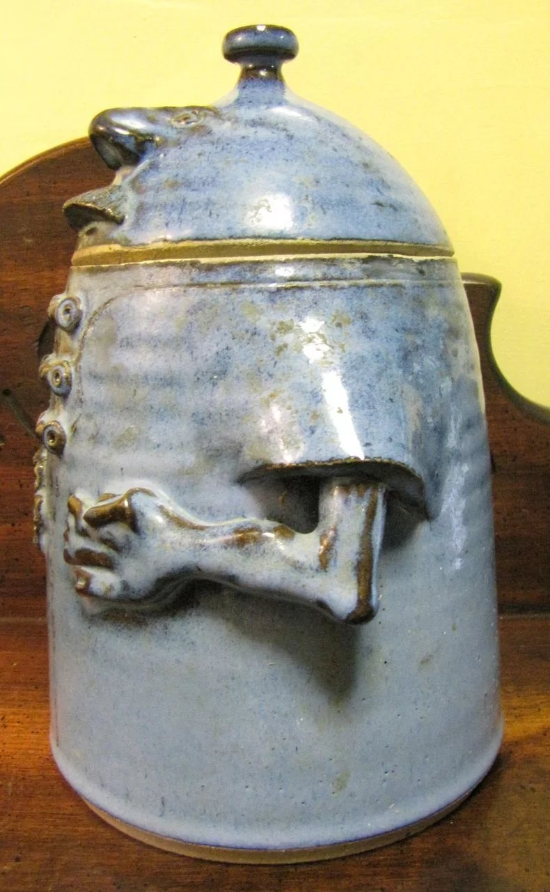 Large Grotesque Hand Made Pottery Cookie Jar : Fay Wray ...