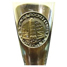 U.S. Space Rocket Center, Huntsville AL Souvenir Crystal Flute