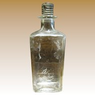 Clear Glass Bottle USA with Original Tin Lid, 2 1/2 oz