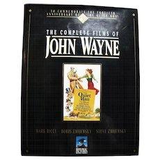 The Complete Films of John Wayne, Oversized Hardcover