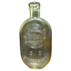 1860-1880's‏, South Carolina Flask with SC Dispensary & SCD monogram