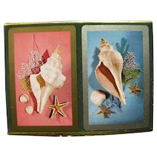 Sea Shells Pinochle Playing Cards in their Original Box