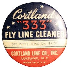 Vintage Fishing Tin, Cortland 333 Fly Line Cleaner