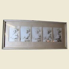 Charming Set of Framed Studio Photos of a Small Child