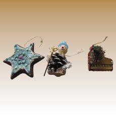 Three Mid Century Japan Tree Ornaments (Lot 1)