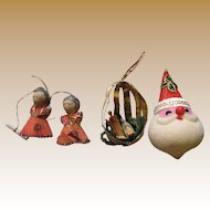 Three Mid Century Japan Tree Ornaments (Lot 4)