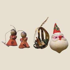 Three Mid Century Japan Tree Ornaments (Lot 4)