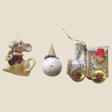 Three Mid Century Japan Tree Ornaments (Lot 5)
