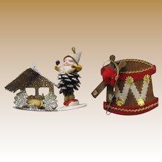 Three Mid Century Japan Tree Ornaments (Lot 6)