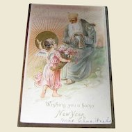 """1907, """"Wishing You A Happy New Year"""", Embossed Made in Germany"""
