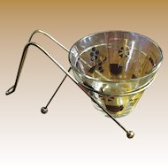 Mid Century Ice Bucket with Carrier by Gay Fad