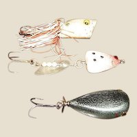 Vintage Hand Carved & Painted Wood Fishing Lures Made by Danny Chebra, Like New
