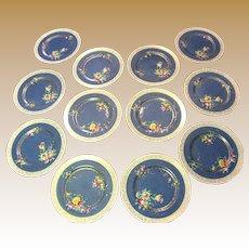 Twelve 1920's Royal Doulton Gilt Hand Painted Dinner Plates
