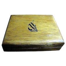 Nice Hard Wood Storage Box by Nautica
