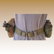 Military Web Belt and Two Water Bottles