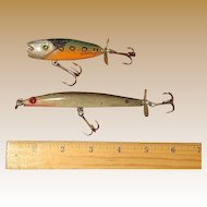 Vintage Hand Carved & Painted Wood Fishing Lures Made by Danny Chebra